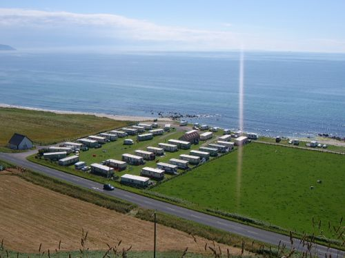 Aerial view of Killegruer Caravan Site