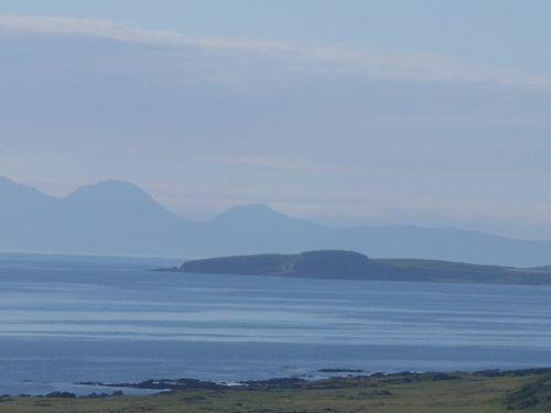 Gigha and Islay from the beach at Killegruer